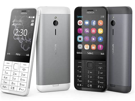 feature mobile phone nokia 230 dual sim enabled feature phone launched