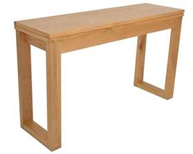 console to dining table oak console table