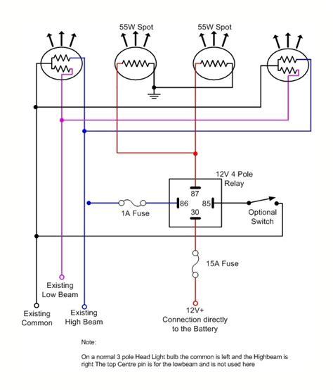 wiring diagram spotlights 5 pole relay efcaviation
