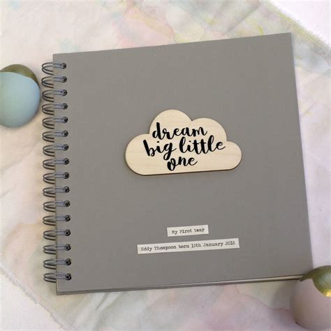 memory picture book personalised cloud quote memory book by posh totty designs