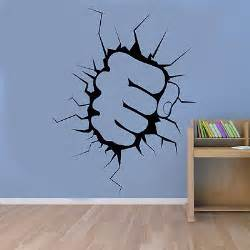 Hulk Wall Stickers The Incredible Hulk Fist Punch Boys Wall Sticker Art Decal