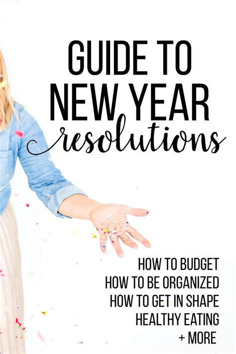 new year guide guide to new year s resolution