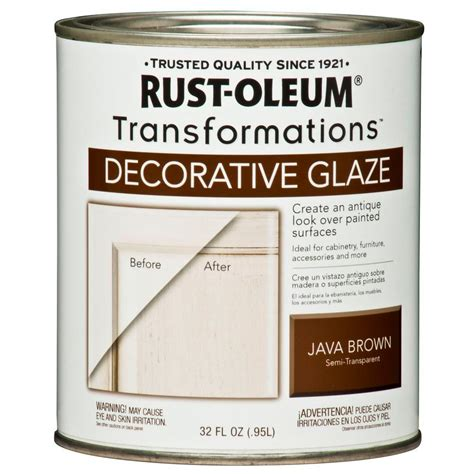 home decorative products rust oleum transformations 1 qt java brown cabinet