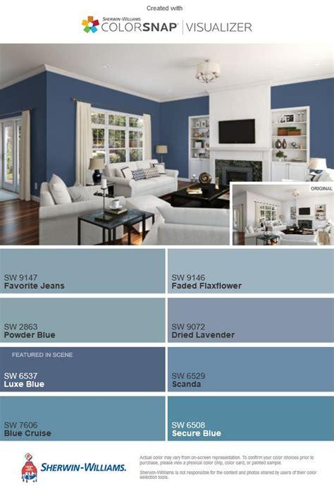 luxe blue sw   comparison blue color pallet