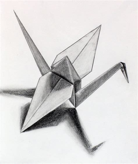 Origami Crane Drawing - paper crane by eekxpo on deviantart