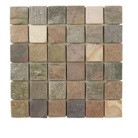 Home Depot Slate Tile by Jeffrey Court Slate Medley 12 In X 12 2 In X 2 In Wall Tile