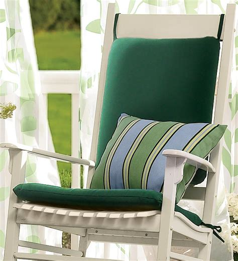 Outdoor Rocking Chairs With Cushions by Weather Resistant Outdoor Classic Rocker Chair Cushion