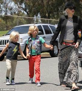 gwen stefani steps out with stylish sons kingston and zuma