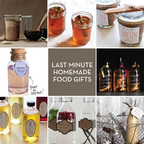 Last Minute Handmade Gifts - last minute food gifts to give design crush