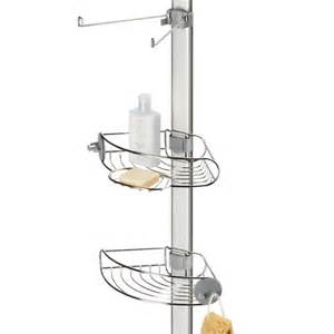 adjustable tension pole shower caddy in shower caddies
