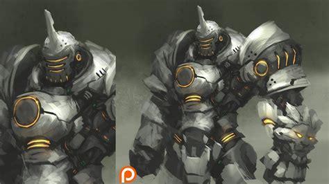 Reinhardt Live Wallpaper by Overwatch Reinhardt Digital Painting Process Timelapse