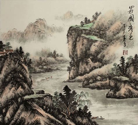 japanese landscape painting nilesh dsdn144