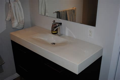 Modern Bathroom Countertops Bathroom Vanities Modern Vanity Tops And Side Splashes Edmonton By Concrete Ideas