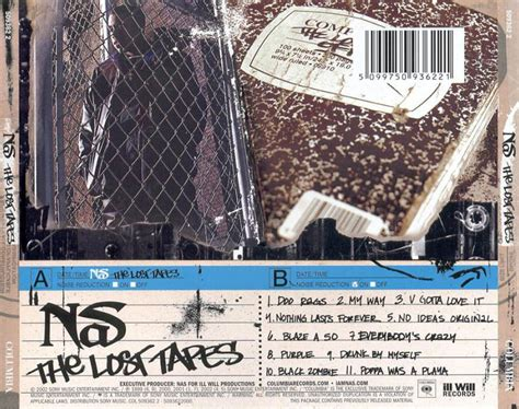 nas lost tapes car 225 tula trasera de nas the lost tapes portada