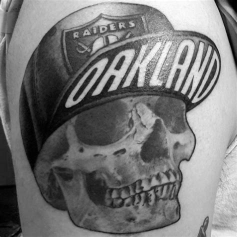 raiders skull tattoo designs 40 oakland raiders tattoos for football ink design ideas