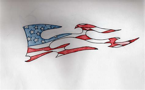 tribal flag tattoo american flag by mks1011 on deviantart