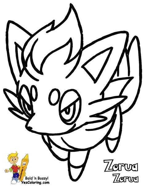 pokemon coloring pages of zorua pokemon zorua colouring pages