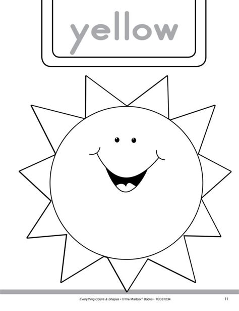preschool yellow coloring pages color yellow worksheets worksheets for all download and
