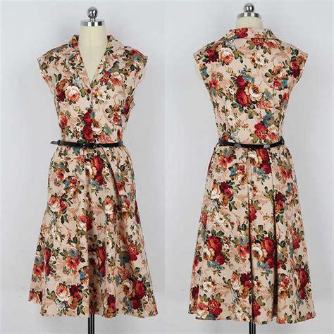 Baju Murah Dress Tengtop Vintage dress wanita model vintage lengan buntung jual model