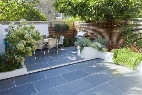 Small Patio Garden Design Contemporary Small Family Garden Designers In Clapham Sw4 Slate Paving By Garden Builders