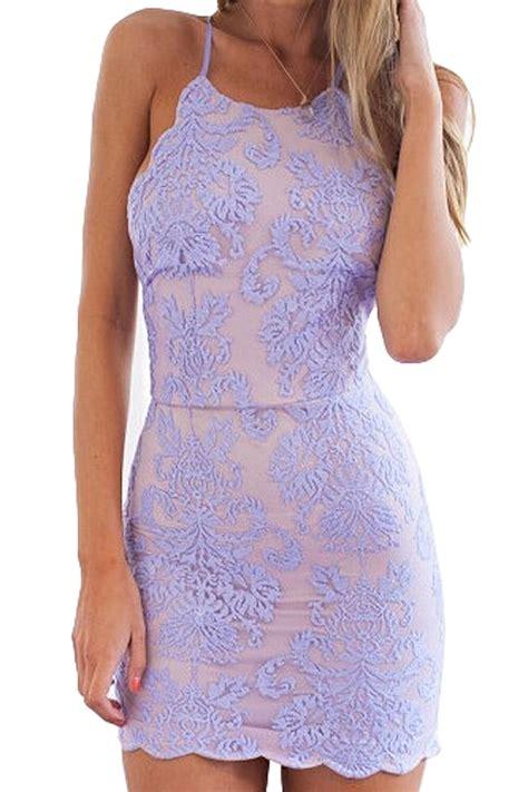 light purple lace dress lace embroidery spaghetti straps dress light purple