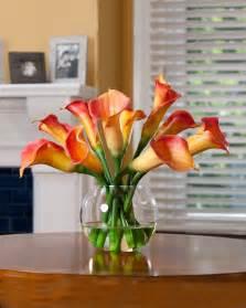 artificial calla centerpieces buy calla silk flower centerpiece at petals
