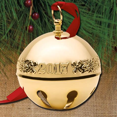 wallace silver bell 2018 2017 wallace sleigh bell 28th edition goldplate ornament sterling collectables