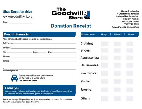 donation receipt templates 40 donation receipt templates letters goodwill non profit