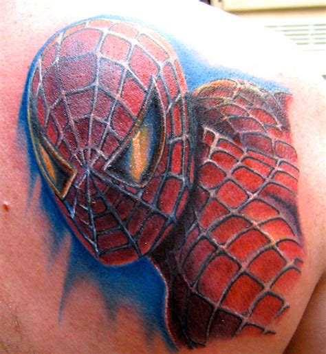 spiderman chest tattoo symbol on chest
