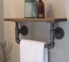 powder room towel holder i could totally make this powder room industrial pipe
