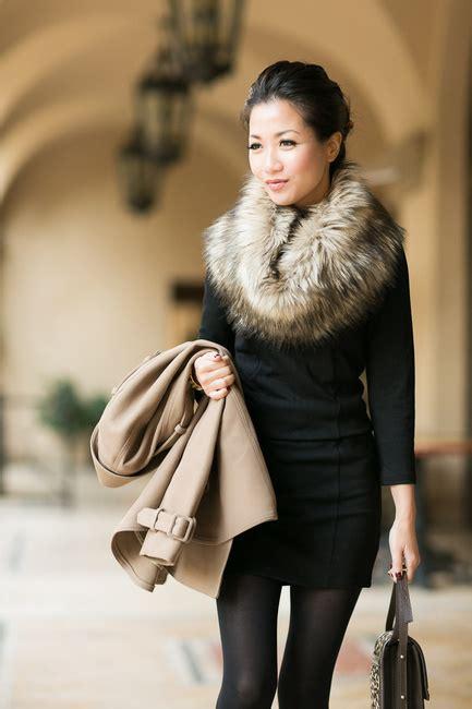 Fur Basic Dress dress up any with a fur snood