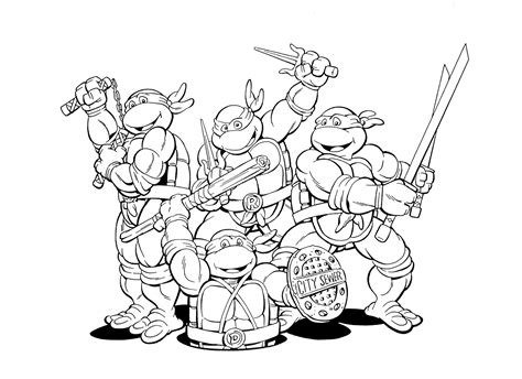 www full teenage mutant ninja turtles coloring pages april