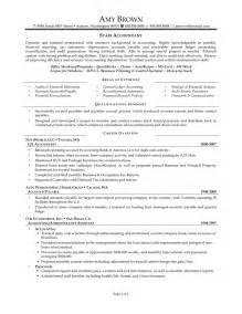 senior accountant resume sles sle staff accountant