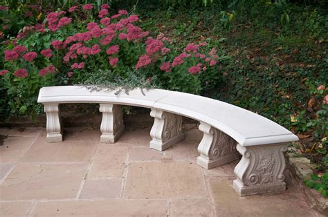 double curved   bench seat haddonstone usa
