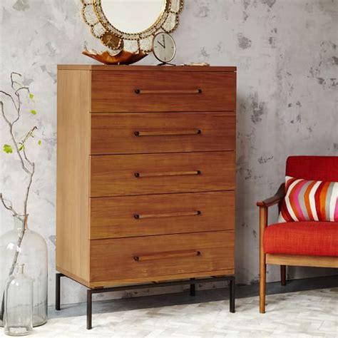 Teak Wood Dresser by Nash 5 Drawer Dresser Teak West Elm