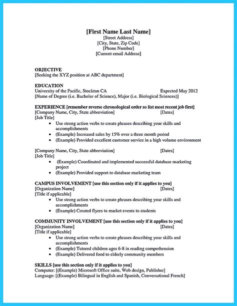 college student re marvelous college student resume examples free