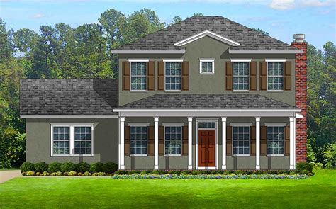 house plans with porches on front and back colonial with front and back porches 82099ka architectural designs house plans