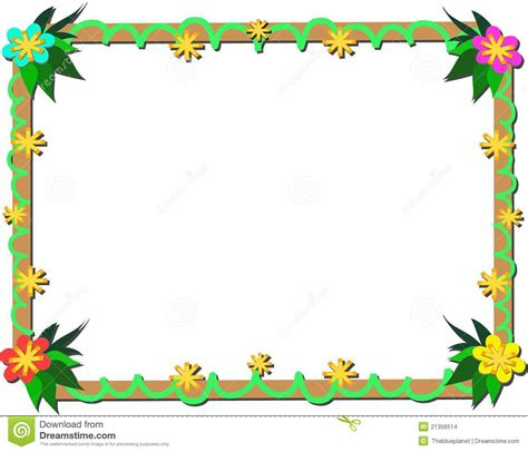 frame design software free download frame of tropical plants and wood stock vector image