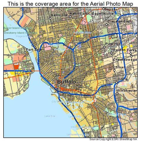 buffalo map aerial photography map of buffalo ny new york