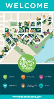 grove map coconut grove miami 187 pedestrian map