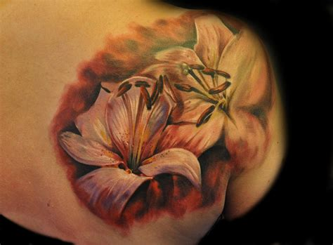 realistic flower tattoo realistic flower tattooby max pniewski design of