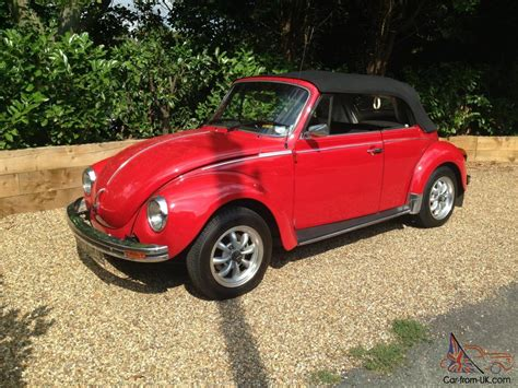 red volkswagen convertible classic vw karmann beetle convertible red 1973