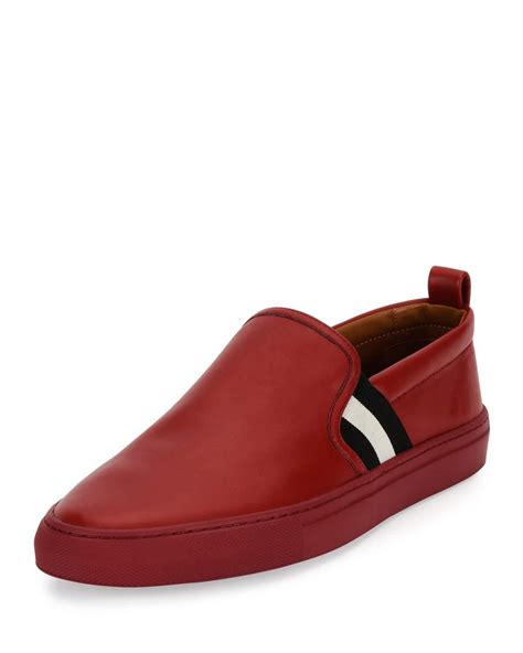 bally sneakers bally herald leather slip on sneaker in for lyst
