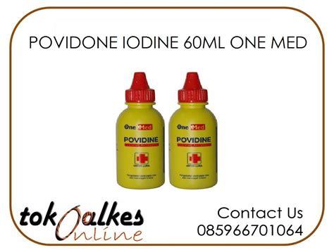 Murah Onemed Povidone Iodine 60ml povidone iodine 60ml one med toko alat kesehatan