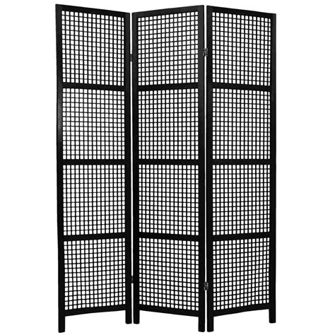 6 ft black 3 panel room divider miyagi blk 3p the home