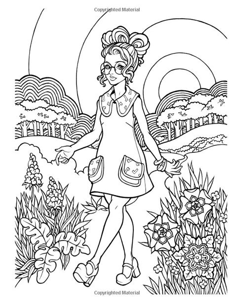 girly coloring pages for adults 574 best images about coloriages girly on pinterest