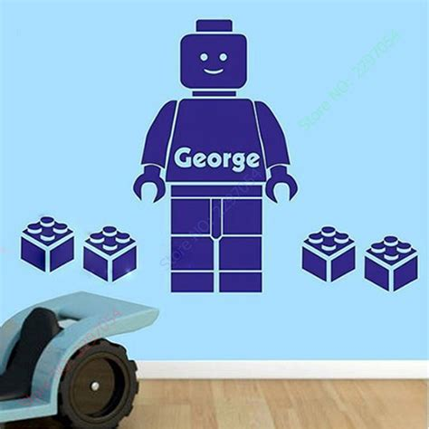 Wall Sticker Arsenal 3 customer made 3d lego wall sticker personalised boys personalized name bedroom wall home