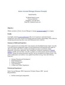 Account Manager Resume Template by Senior Account Manager Resume Free Resume Templates