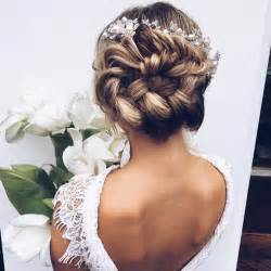hairstyles for brides braided bun wedding hairstyles photos brides com