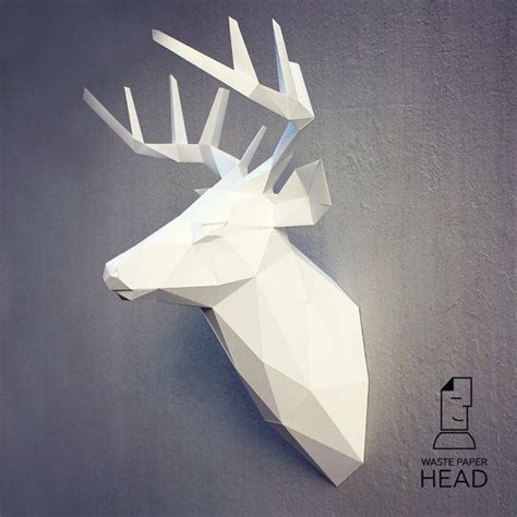 142 Best Images About Mask Papercraft Plantillas On Pinterest Papercraft Deer Template